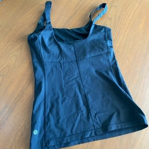 Black Lululemon Tank with built in support